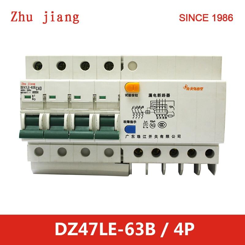 Circuit 30mA breaker RCCB residual current 400V 380V  4P 40/50/63ACircuit 30mA breaker RCCB residual current 400V 380V  4P 40/50/63A