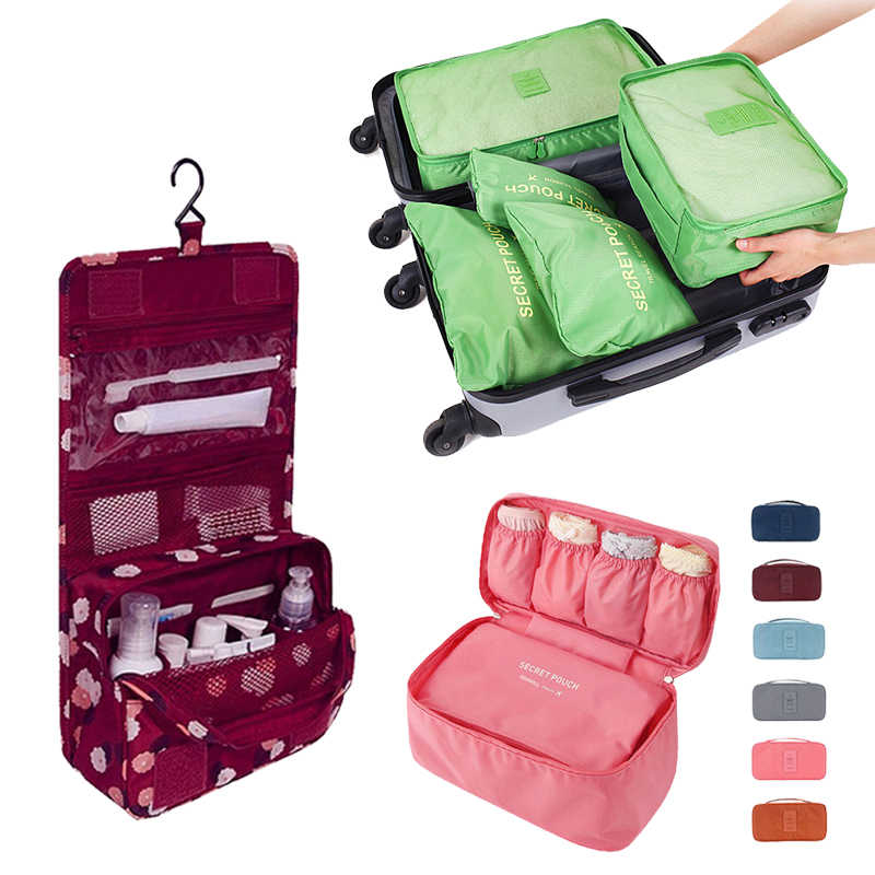DINIWELL Travel Storage Bags Organizer For Clothes Tidy Pouch Luggage  Underwear Bra Hanging Toiletry Makeup Cosmetics 638dea6642