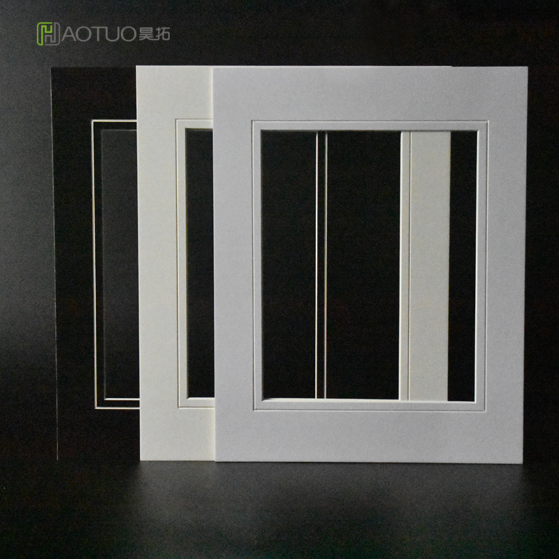 White V Groove Cut Cardboard Matboard Paper Photo Mats For 8x10