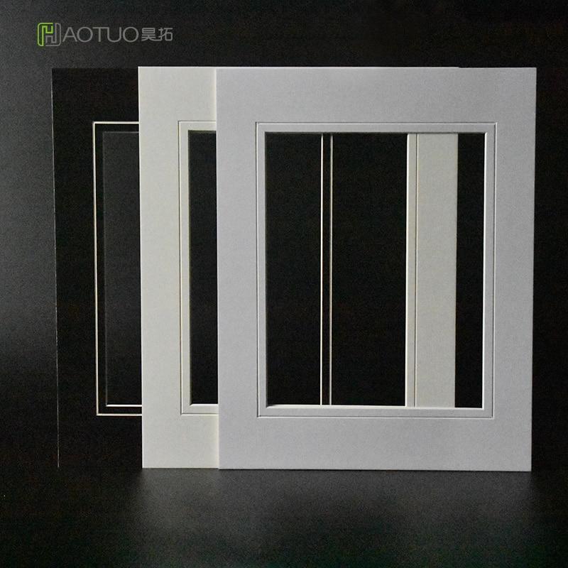 White V Groove Cut Cardboard Matboard Paper Photo Mats For 8x10