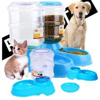 3 5L Large Automatic Cat Puppy Feeder Water Dispenser Plastic Hot Sale