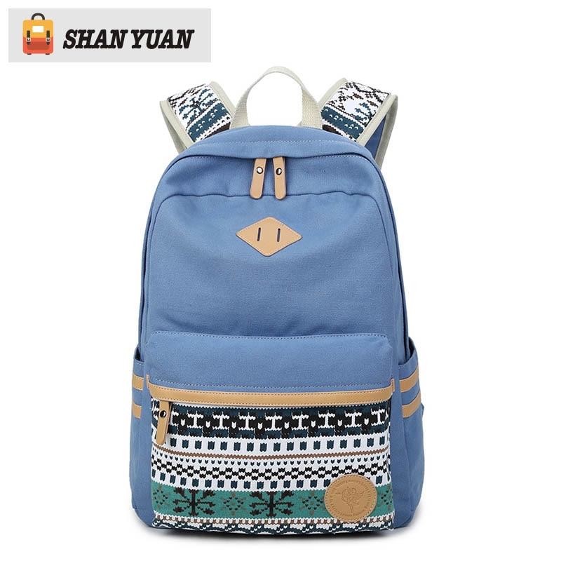 High Quality Backpacks For Women Laptop Bag Printing School Backpack Bag for Teenager Girls Rucksack Preppy