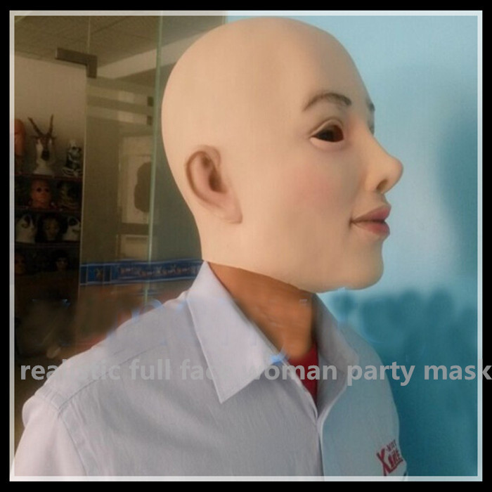 Top-grade Realistic Simulation Latex Lady Women Face Head Mask Party Cosplay Full Halloween Rubber - Lmon China Products Store Centre store