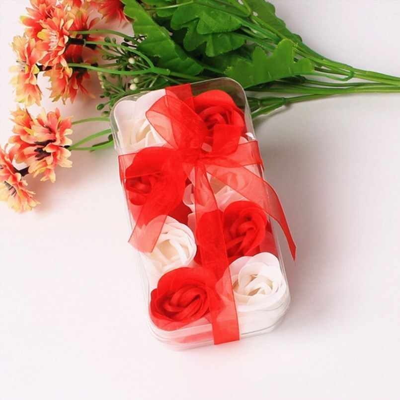 New 8pcs Roses Soap Flower Gift Box Wedding Gifts For Guests Wedding Souvenir Bridesmaid Gift Birthday Party Decorations Adult