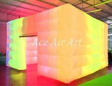 full glow wall color changing rbg lighting Giant photo booth inflatable tent for rental