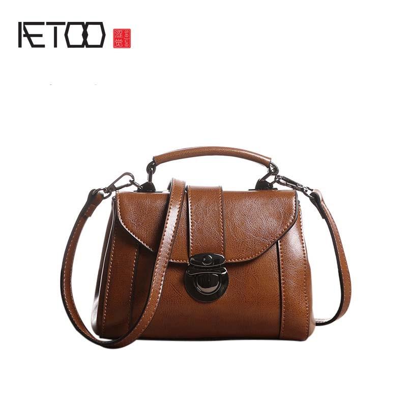 AETOO Fashion Women split Leather Messenger Bag Handbag Ladies Small Crossbody Bags Famous Brands Designers Shoulder Bags Girl