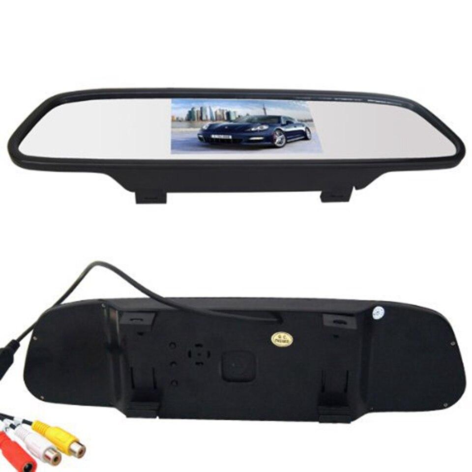 Auto Styling 4,3 Zoll Auto Rückspiegel Auto Monitor Display mit Wifi Rückseiten-unterstützung Kamera Auto TV Display