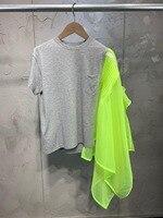 2019 Дамский модный костюм с короткими рукавами Блузка + юбка 2 комплекта 0410