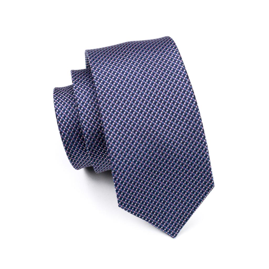 Men's 100% Silk Multi-Color Plaid Necktie
