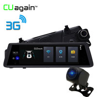 CUagain CUV6 10 Inch 3G Mirror DVR With GPS Android Car Camera 1080P HD Auto Recorder