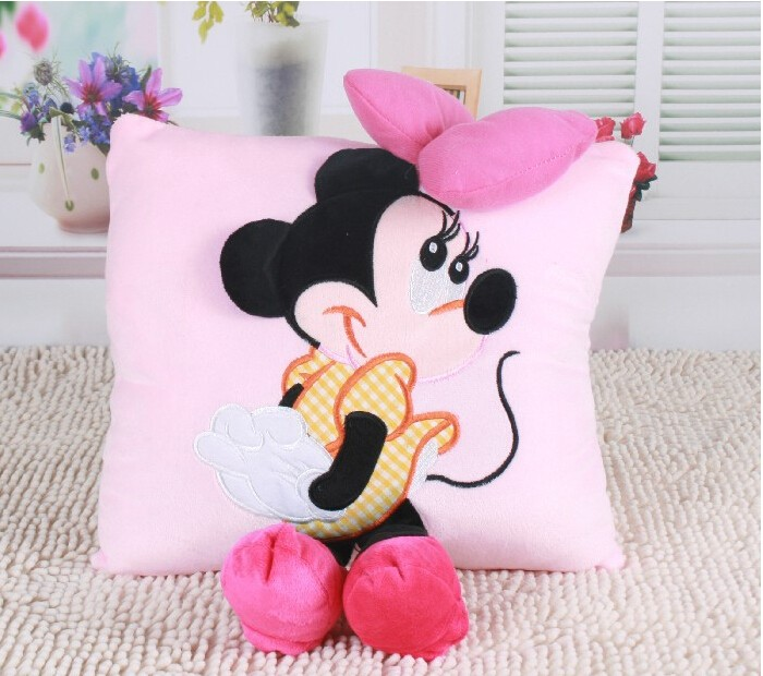 1pcs-35cm-3D-Mickey-Mouse-and-Minnie-Mouse-Plush-Pillow-Kawaii-Mickey-and-Minnie-Soft-Cusion-Gifts-for-Children-3