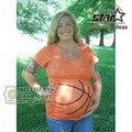 2016 Новый Плюс Размер Баскетбол Шаблоны Топы Письмо Печати Летние Беременность Рубашки Premama Носить Костюм