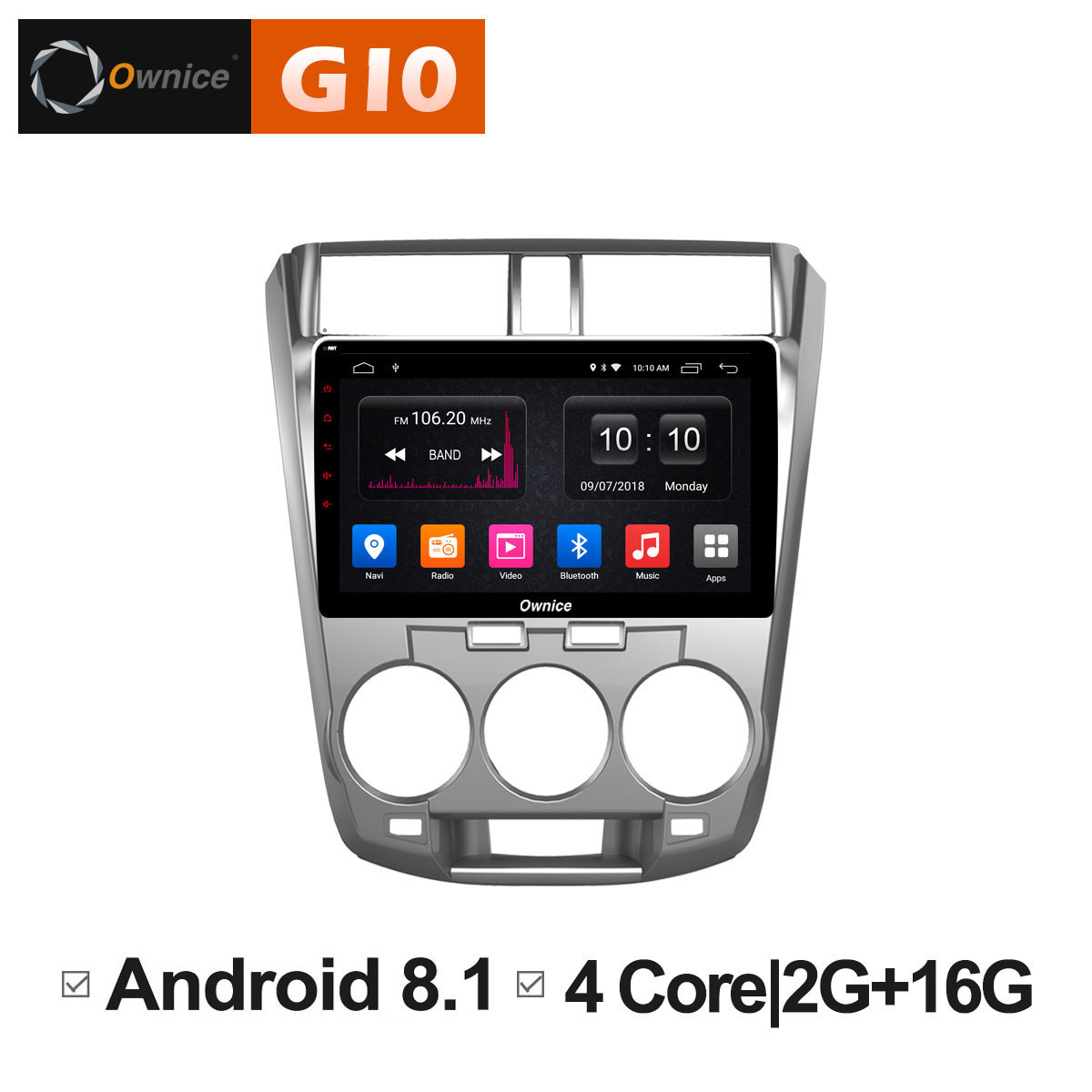 Android 8.1 Unit Car radio Multimedia Video DVD player for HONDA CITY 2009 2010 2011 2012 2013 2014 Car GPS Navi Intelligent PC цена 2017