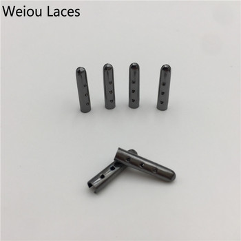 Weiou (20pcs/5 Sets) Shoe Laces Metal Tips Plating Shoelaces Ends Aglets For Clothes Silver, Gold, GunBlack Rose 3*17mm