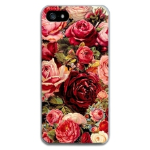 """iphone 5 5s 5se 6 6s 4.7"""" 7 Cover Case Silicone TPU Design Milk Flower Floral Print Bags Shell Fashion Soft Capa Funda"""