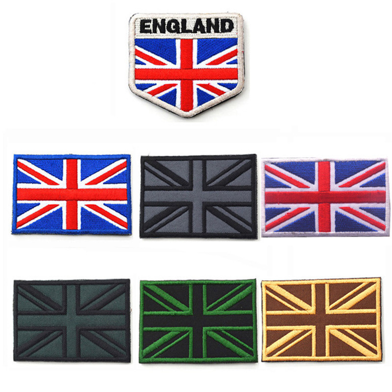 7 style <font><b>British</b></font> <font><b>Flag</b></font> <font><b>Patch</b></font> Embroidery armband 8*5CM the United Kingdom <font><b>flag</b></font> design patchs for parade activity