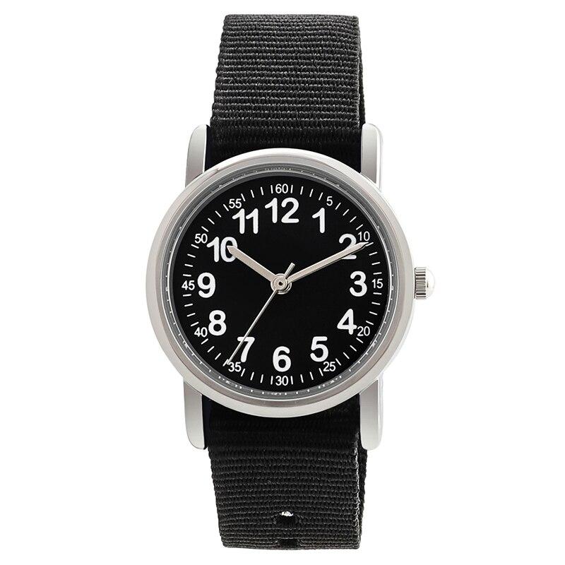 Watches Kid Nylon Straps Wristwatch Children Quartz Watch Cute Clock Kids Watches Child Watch For Students