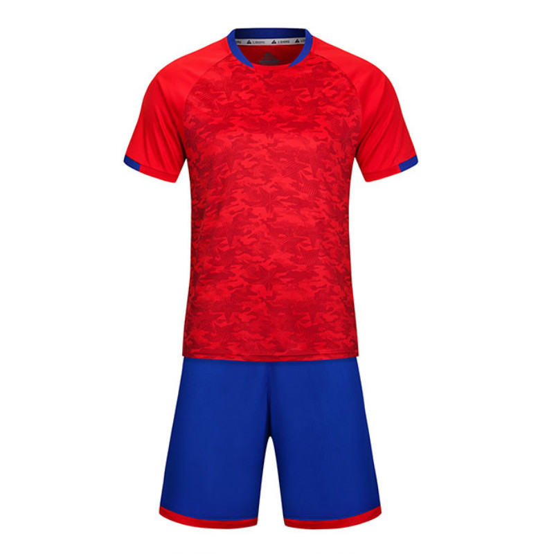 Men s New Orange and Blue Color Breathable Soccer Jerseys Sets Clubs Party font b Football