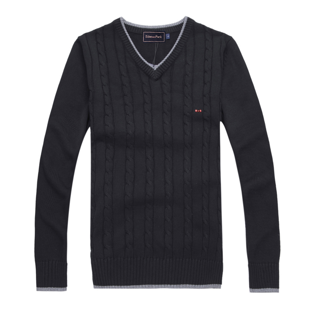 mens spring winter pullover sweater special pattern design pattern luxury brand v neck style high quality eden SERIGE park 088