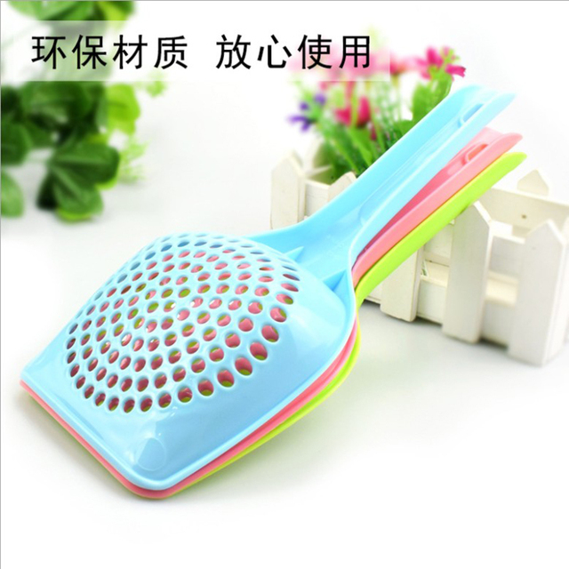 Plastic Cat Litter Shovel Cat Scoop Poop Shovel Waste Tray Pet Cleaning Pooper Scoopers Cat Sand Toilet Cleaning Spoons 5