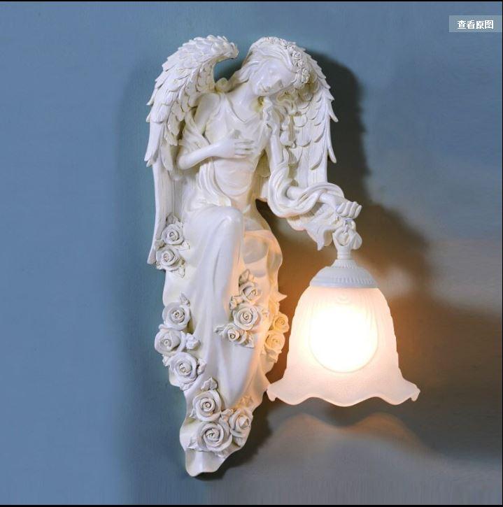 Européenne mur lampe chambre lampe de chevet salon mur escalier couloir moderne minimaliste personnalité créative mur lampe