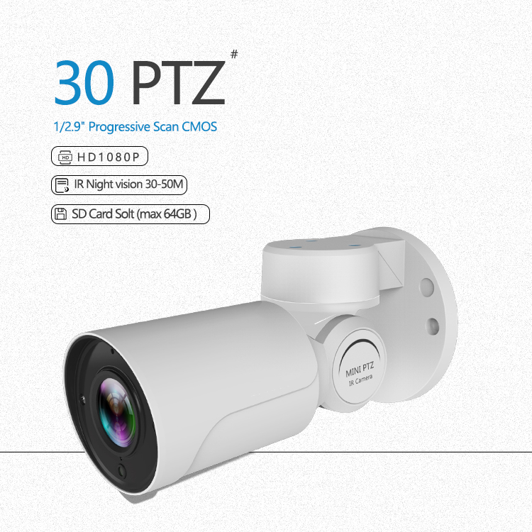 Home PTZ Camera onvif outdoor waterproof CCTV Security IP network 1080p 2MP Camera POE PTZ Camera ,Support 64G tf card  MIC hikvision ds 2ae5123t a original english version 2mp ptz ip camera cctv security camera surveillance poe onvif 4k hd network