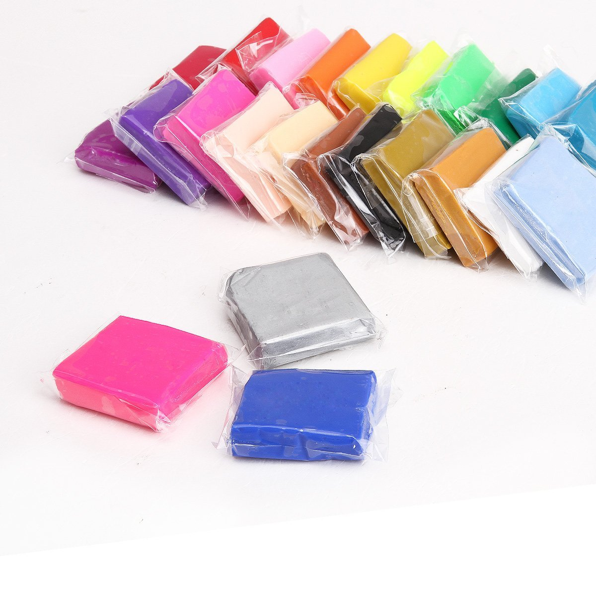 New Style 24 Colors + Pate Polymer Modeling Tools + Accessories + Crystal Yarn + Roll