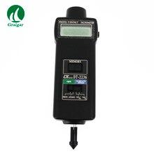 DT2236 Многофункциональный цифровой тахометр, используемый для измерения скорости вращения, скорости поверхности, частоты двигателя