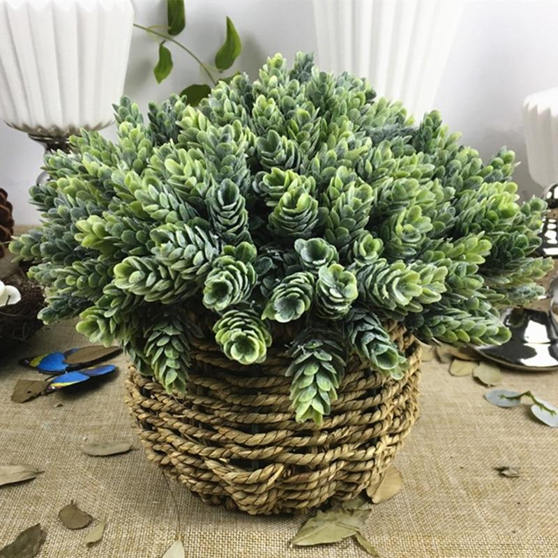 30 головок искусственный маленький ананас пластик дерево листья Флорес поддельные цветы DIY Свадебные украшения дома завод зеленый лист