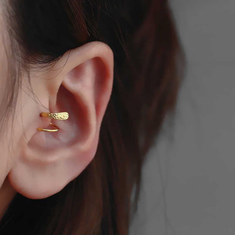 Verdadeiro piercing brincos orelha manguito artesanal jóias vintage boho pendientes ouro preenchido/925 prata oorbellen minimalista brincos