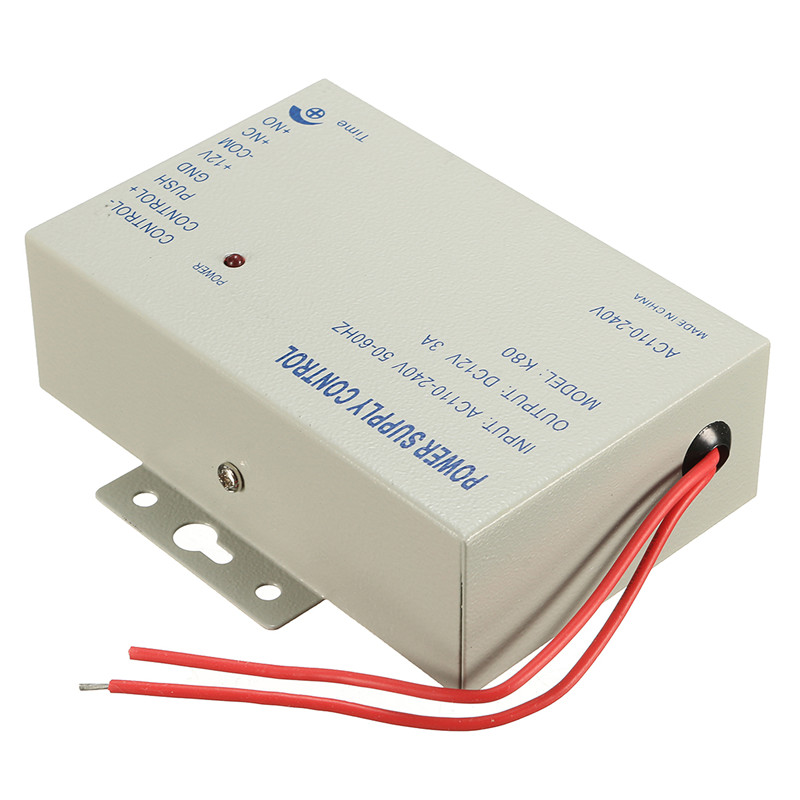 K80 DC 12V 3A Door Access System Electric Power Supply Control Switch 110-220V 11.4x9x3.3cm Free Shipping high quality of dc 12v 5a power supply for access control system kit switch electric power