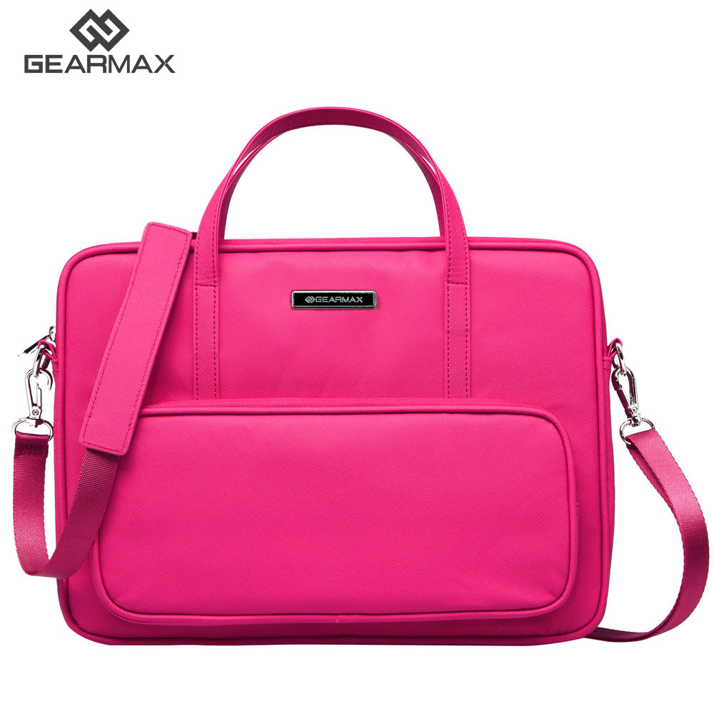 GEARMAX Laptop bag 14 13 12 inch PU lether airbag men computer bags fashion handbags Women shoulder Messenger notebook bag