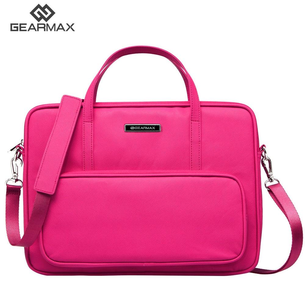 GEARMAX Laptop bag 14 13 12 inch PU lether airbag men computer bags fashion handbags Women shoulder Messenger notebook bag