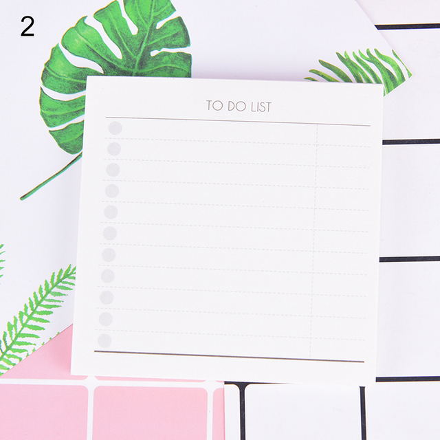 1pc Time Schedule Checklist Time Table To Do List Sticky Notes Desk