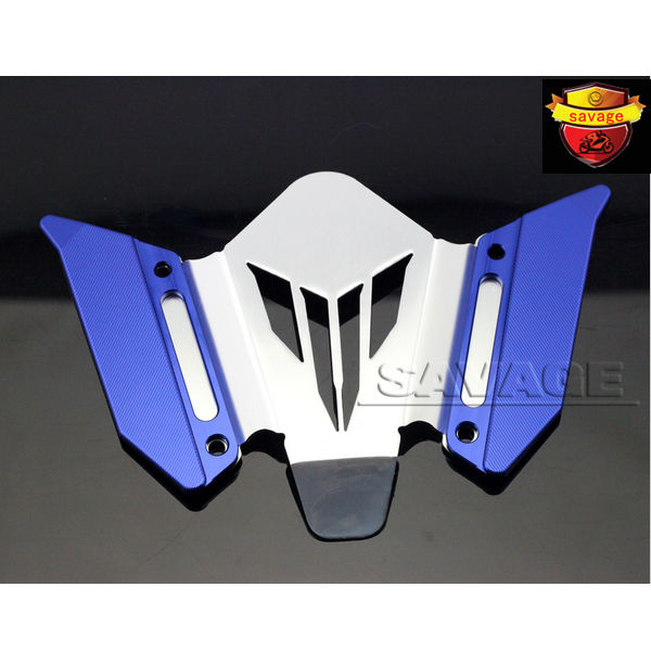 ФОТО Motorcycle CNC Aluminum Windscreen Windshield Mounting Bracket New For YAMAHA MT07 FZ07 MT-07 FZ-07 2014-2016 Blue