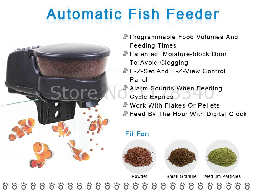 профессиональный автоматический домашнее животное рыба продовольствия 4-шрот Корк подачи легко Resort и чистый дизайн с жк-дисплей