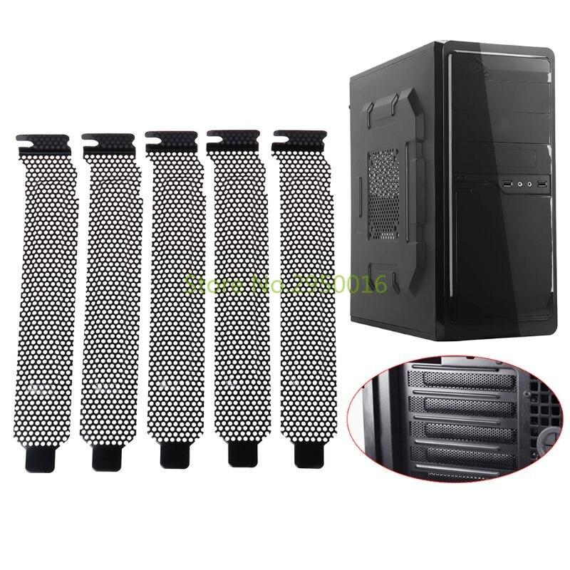 5Pcs Ventilation Deflectors PCI Slot Cover Frame Chassis Bits Block Cooling Fan Dust Filter PC Computer Case Metal Punch C26
