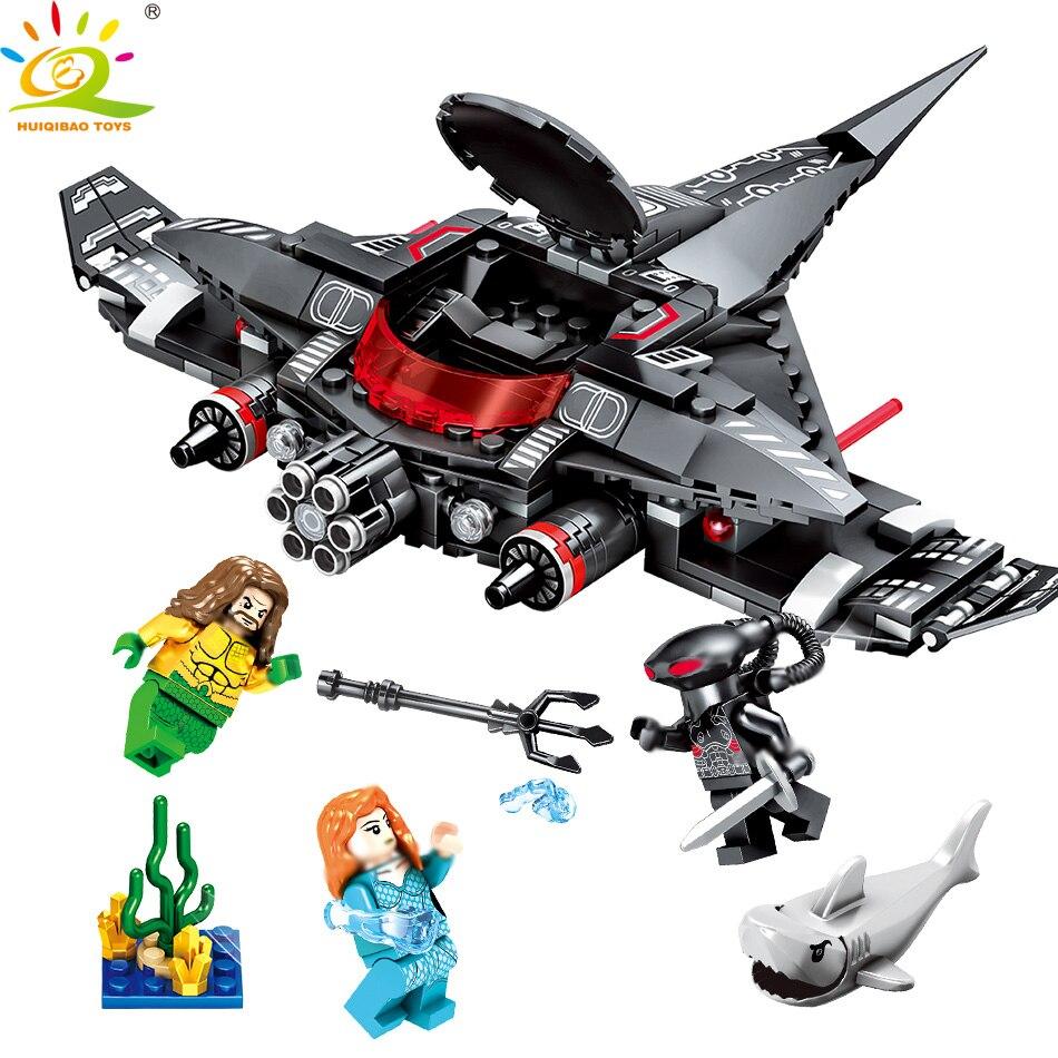 232 pcs Noir Manta Grève Blocs de Construction Compatible Legoed Avengers Super hero Aquaman Figures briques BRICOLAGE Set jouets pour Enfants