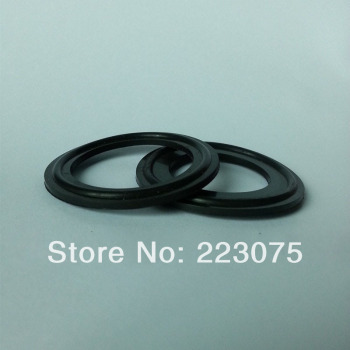 Free shipping Sanitary Clamp Gaskets Tri-Clamp Fluorous rubber Gaskets for D:45mm ferrule black NEW 20pcs/lot