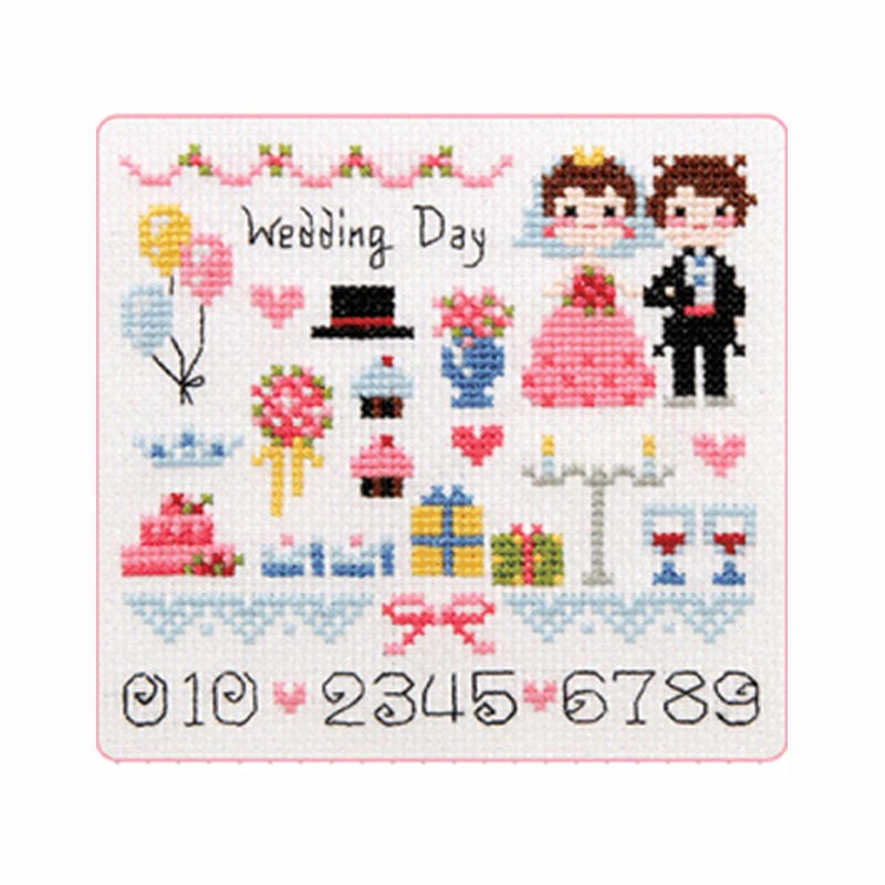 Cute little wedding couples wedding day certificate decoration 14ct ...