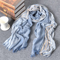 Explosion models cotton striped scarves Women oversized shawl Dual use sunscreen summer beach scarf
