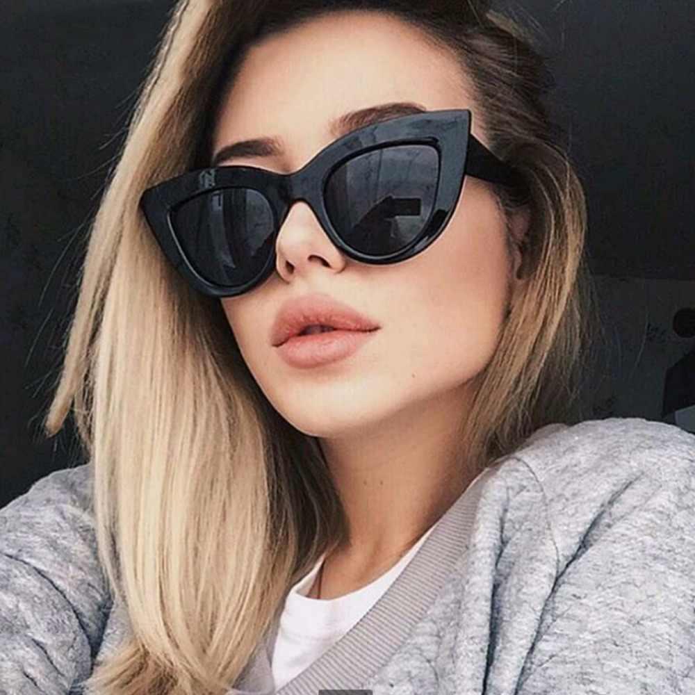 abf1433f611d4 Detail Feedback Questions about OUTEYE Rose Gold Cat Eye Sunglasses Women  Pink Mirror Shades Female Sun Glasses Black White Coating Cateye Aviation  Eyewear ...