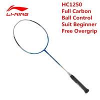 Li Ning Badminton Racket HC1250 Ball Control Type Carbon Fiber Moderate Lining AYPK084 Racquet Sports With Free Overgrip L523OLC