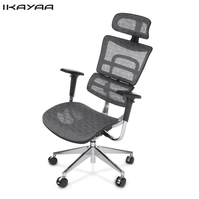 IKayaa DE Stock Mesh Ergonomic Office Chair Swivel Computer Desk Chair  Lumbar Support Tilt Slide Headrest