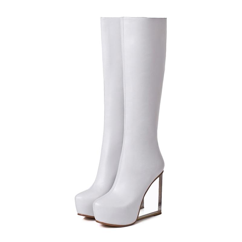 3 White Hasta Intención Mujeres Botas De Nuevo Extraño Tamaño Mujer ef1571 Rodilla 9 La Invierno Blanco Original Tacones Sexy 5 Negro Estilo Ef1571 Zapatos Black XUqSnYx