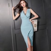 여성 민소매 vestidos 스타일