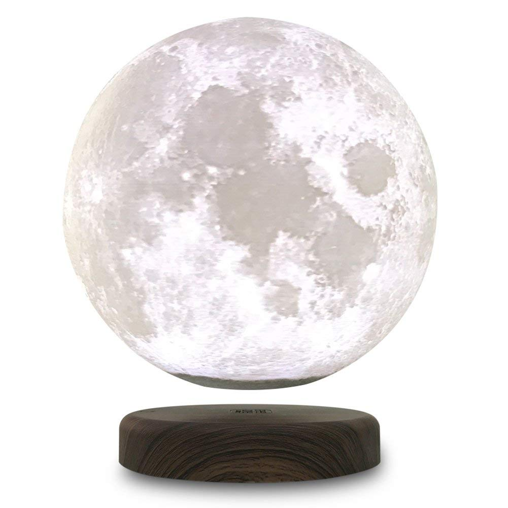 DSHA 3D Printing Maglev Magnetic Levituna Moon LED Night light Wired Power 360 Rotation Floating Decorative Light tanbaby 15cm 3d print magnetic levitation moon lamp magnetic floating led night light auto rotatable decorative moon light
