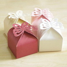 100Pcs Butterfly Favor Gift Candy Paper Lovely Boxes Wedding Party Box Christmas Boutique Supplies
