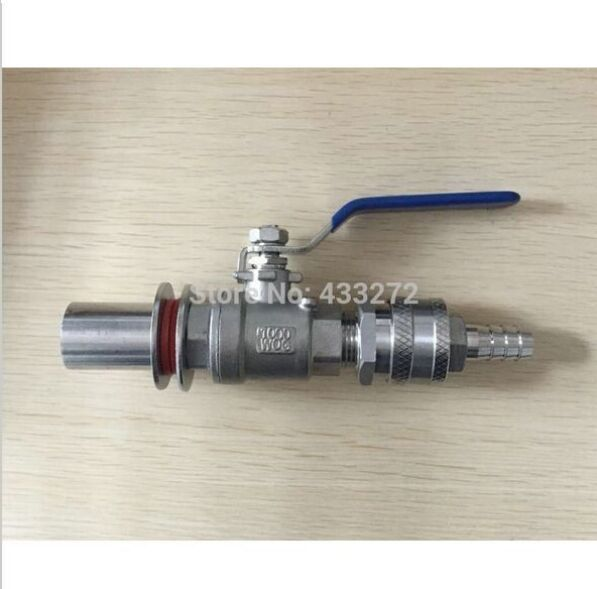 "Stainless Steel homebrew Weldless Kettle Valve Kit, 1/2""BSP,with Quick Disconnect Set and bulkhead assembly"