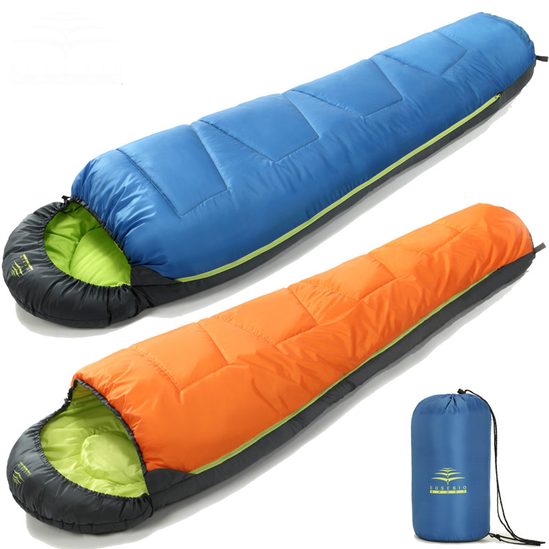 Outdoor adult mummy style sleeping bag spring and autumn season thick camping sleeping bag Warm and comfortable 2018 wnnideo adult mummy 4 season sleeping bag warm length adjustable outdoor camping hiking travel zs7 1901